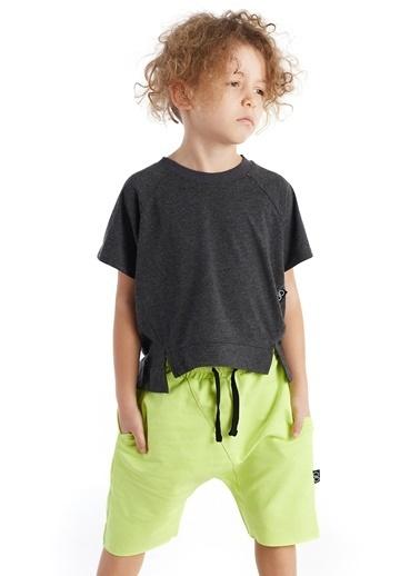 Colorinas Asimetric Comfy T-Shirt Antrasit